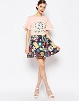 Love Moschino Hippie Love Skater Skirt