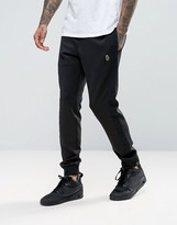 Luke 1977 Shilts Cuffed Joggers Tricot Tape Logo In Black