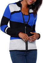 Belldini Black & Cobalt Color BlockTank & Zip-Up Jacket