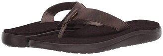 Teva Voya Flip Leather (Chocolate Brown) Men's Shoes