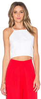 J.o.a. Button Front Crop Top