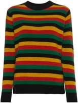 The Elder Statesman Multi Stripe Sweater