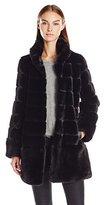 Jones New York Women's Faux Fur Coat
