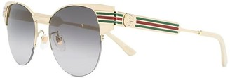 Vintage Look Metal Frame Sunglasses