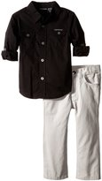 Calvin Klein Little Boys' Woven Shirt with Pants Toddler
