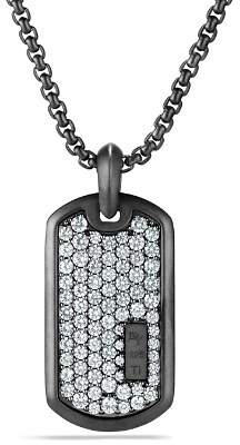 David Yurman Pavé Tag with Grey Sapphire in Black Titanium