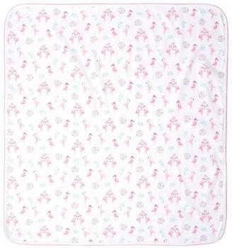 Kissy Kissy Flamingo Print Blanket