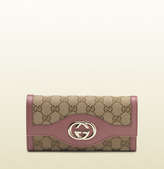 Gucci original GG canvas continental wallet