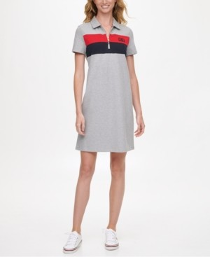 Tommy Hilfiger Colorblocked Polo Dress, Created for Macy's