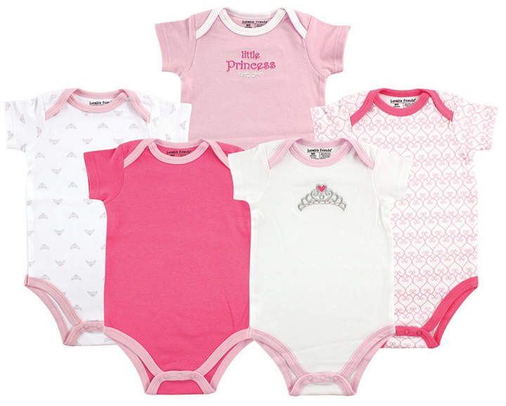 Baby Vision Luvable Friends Unisex Baby Bodysuits, 5-Pack, 0-24 Months