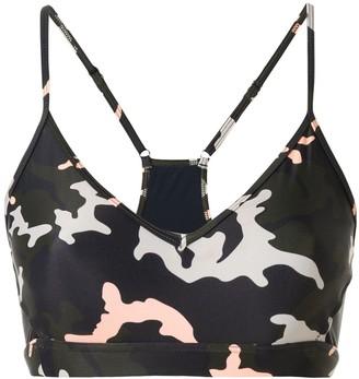 The Upside Camo 54 Andie bra