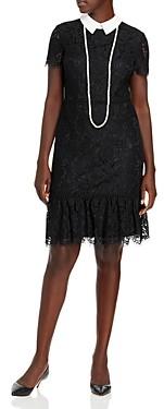 Karl Lagerfeld Paris Lace Sheath Dress & Necklace
