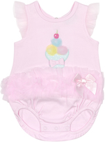Cutie Pie Baby Lavender Ice Cream-Appliqué Bubble Bodysut - Infant