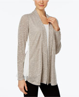 NY Collection Petite Chiffon-Trim Layered-Look Top