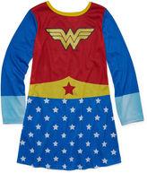 WARNER BROTHERS Warner Brothers Long Sleeve Wonder Woman Nightgown-Big Kid Girls