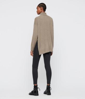 AllSaints Gala Cashmere Blend Roll Neck Sweater