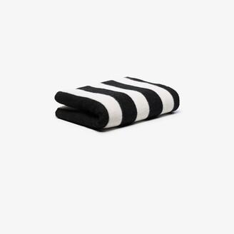 Tekla Black And White Stripe Wool Blanket