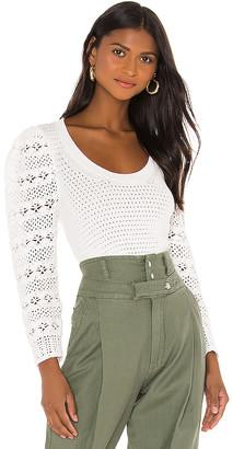 Rebecca Taylor Crimp Cotton Pullover Sweater