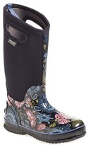 Bogs Women's 'Classic Winter Blooms' Tall Waterproof Snow Boot With Cutout Handles