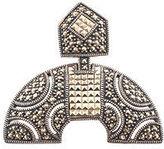 Judith Jack Marcasite Rhinestone Sterling Silver Brooch Pin