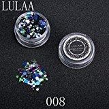 DZT1968 1Box/1.5g Shiny Round Sequins Multicolor Plastic Nail Art Glitter Tips UV Gel 3D Nail Decoration (H)