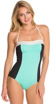 Kate Spade Parrot Bay Colorblock Halter One Piece Swimsuit 8126531
