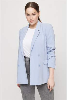 Dynamite Structured Double Breasted Blazer Brunnera Blue