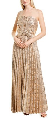 Kay Unger Pleated Gown