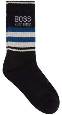 BOSS Quarter-length socks in a combed stretch-cotton blend