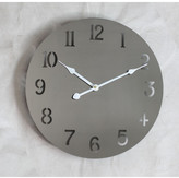 39Cm Metal Wall Clock Colour: Stormcloud
