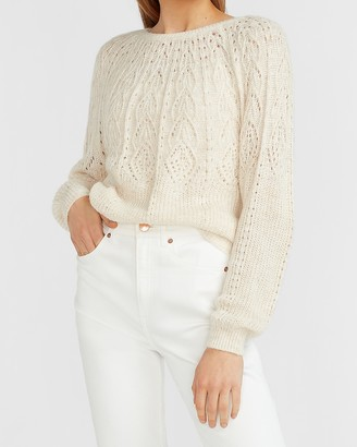 Express Pointelle Dolman Sleeve Sweater