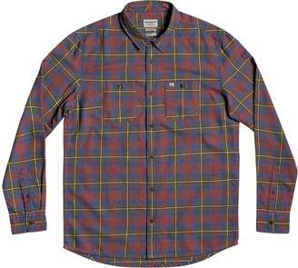 Quiksilver Twisted Tubes Regular Fit Plaid Button-Up Flannel Shirt
