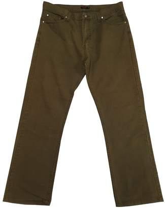 Versace Khaki Cotton Trousers