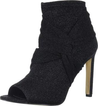 Badgley Mischka Jewel Women's Rockford Ankle Boot Black Fabric 8 M US