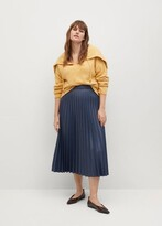 Thumbnail for your product : MANGO Faux-leather pleated skirt