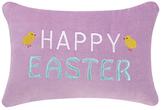 Phi Happy Easter Embroidered Velvet Pillow