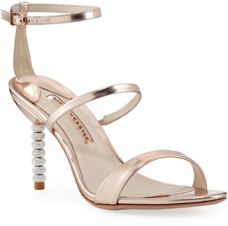 Sophia Webster Rosalind Metallic Sphere-Heel Sandals