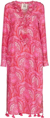 Figue Cerelina batik-print midi dress