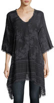 Johnny Was Leaf Garden Embroidered Georgette Tunic, Plus Size