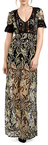 French Connection Floral Lace Maxi Dress