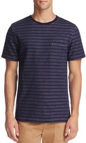 Saturdays Nyc Randall Stripe Pocket Tee