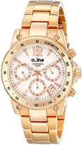 A Line a_line Women's AL-80020-RG-22MOP Liebe Chronograph White Dial Rose Gold Ion-Plated Stainless Steel Watch