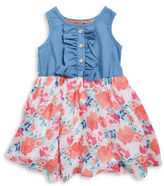 Little Lass Girls 2-6x Ruffle Front Dress