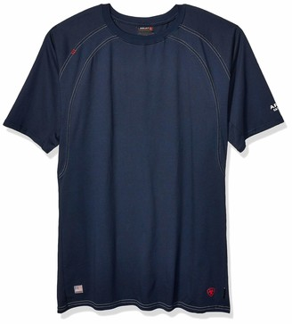 Ariat Men's Big and Tall Flame Resistant Fitted Short Sleeve Work Crew