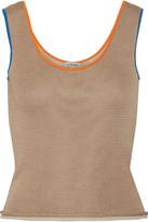 Loewe Layered Silk-blend Top - Beige