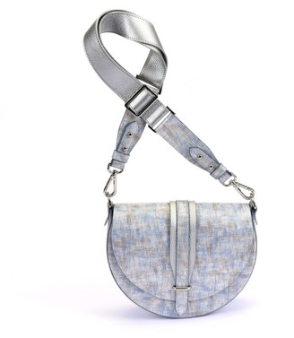 Hiva Atelier Arcus Straw Leather Bag Silver