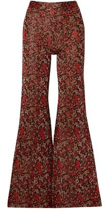 Chloé Metallic Jacquard-knit Flared Pants