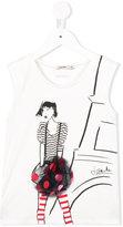 Junior Gaultier girl print top