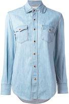 Saint Laurent ruffle collar Western shirt