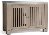 Pottery Barn Abbott Kitchen Double Cabinet, Gray Wash